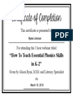 certificate how to teach essential phonics skills