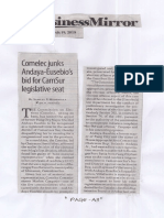 Business Mirror, Mar. 19, 2019, Comelec junks Andaya-Eusebio's bid for CamSur.pdf