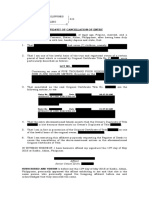 Affidavit of Cancellation of Affidavit of Loss