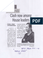 Daily Tribune, Mar. 19, 2019, Clash now among House leaders.pdf