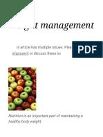 Weight Management - Wikipedia