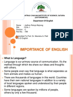 Importance of English