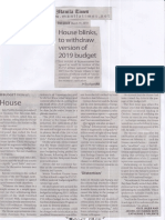Manila Times, Mar. 19, 2019, House blinks to withdraw version of 2019 budget.pdf