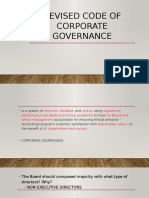 SEC REVISED CORPORATE GOVERNANCE