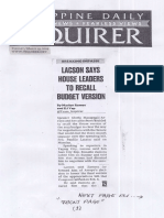 Philippine Daily Inquirer, Mar. 19, 2019, Lacson says House Leaders to recall Budget Version.pdf
