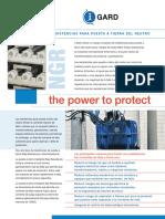 Resistencias de puesta a tierra de neutro en generadores