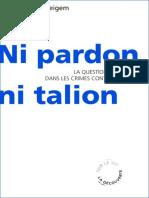 Ni Pardon Ni Talion - Raoul Vaneigem
