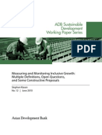 ADB WP12 Measuring Inclusive Growth