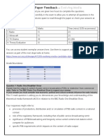 Practice Paper Feedback Homework