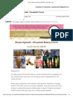 Gmail - Importance of Masala Agarbatti - Dhoopbatti Course