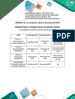 Agenda Cátedra Social Solidaria - Parte 1