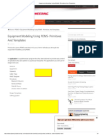 Equipment Modeling Using PDMS- Primitives and Templates