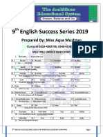 9th English Success Series 2019 by Ambitious Academy Shahdara