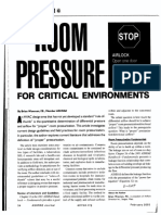 Room Pressure for Critical Environments
