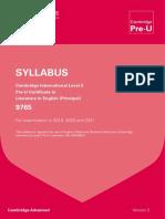 Cambridge International Pre-U - English Syllabus.pdf