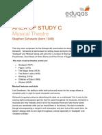 33.Eduqas GCE Music - Musical Theatre (Stephen Schwartz) Handout
