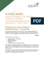 37.Eduqas GCE Music - The Western Classical Tradition - Sample Comparison Question