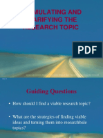 2. Selection of Research Topic