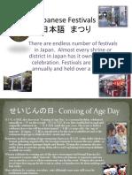 Festivals in Japan