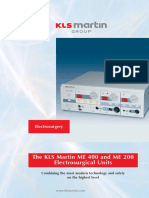 The KLS Martin ME 400 and ME 200 Electrosurgical Unit