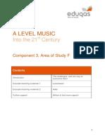 36.Eduqas GCE Music - 'Into the 21st Century' Handout