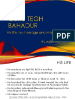 Presentation on Guru Tegh Bahadur