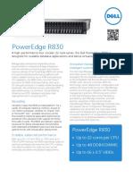 Dell PowerEdge R830 Spec Sheet