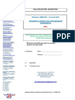 Bulletin de pré-inscription 18 avril 2019