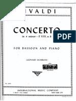 Vivaldi - E minor Concerto Bassoon