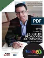 Flyer Curso Claudio Forcada