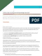¿Cómo crear un proyecto de Aprendizaje-Servicio? - Observatorio Profuturo