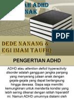 MASALAH ADHD PADA ANAK