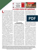 """""""Nubes pasajeras o crisis crónica del capitalismo"""""""