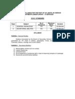 GROUP-4 SSC syllabus