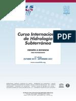 19º Curso Internacional de Hidrología Subterránea, versión a distancia (2019-2021)