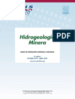 "9º Curso a distancia ""Hidrogeología Minera"" (2019 – 2020)"