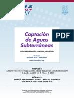 """4º Curso a distancia """"Captación de Aguas Subterráneas"""" (2019 - 2020)"""
