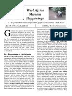 West Africa Mission Happenings - Dec 2013