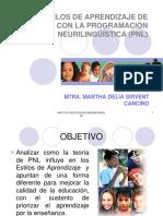 [PD] Presentaciones - Estilos de aprendizaje y pnl.pps