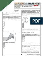 Lista de Exercícios 02 Matemática 3ª Série