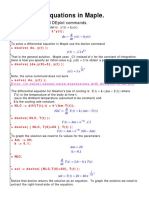DSolve function of Mathematica