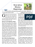 West Africa Mission Happenings - 2014
