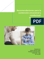 Recomendaciones Para La Contención Emocional y Conductual