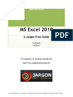 Microsoft Excel 2010 - a jargon free guide