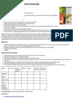 Food Nutrient Density