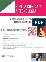 Mujeres en La Ciencia y en La Tecnologia