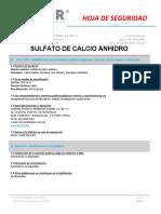 Msds Sulfato de Calcio Anhidro