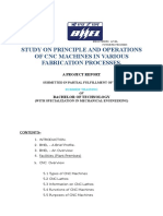 STUDY ON PRINCIPLE AND OPERATIONS OF CNC MACHINES IN VARIOUS FABRICATIO.doc