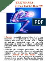Investigarea sindomului inflamator