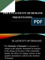 Presentation Elasticity of demand